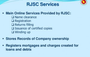 The Register of Joint Stock Companies and Firms (RJSC) Name clearance